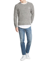 Marc Jacobs Distressed Wool Pullover With Cashmere