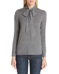 Co Essentials Tie Neck Cashmere Sweater