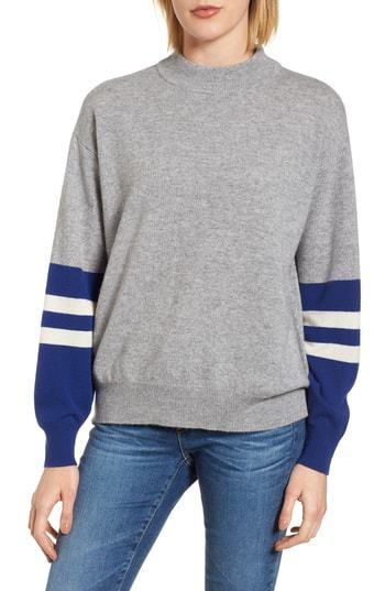 Velvet by Graham & Spencer Graham Spencer Colorblock Cashmere Sweater