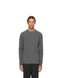 Rick Owens Grey Biker Sweater