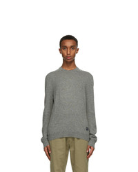 Gucci Grey Cashmere Gg Sweater