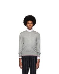 Thom Browne Grey Classic Crewneck Sweater
