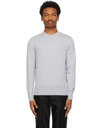 Tom Ford Grey Cotton Knit Sweater