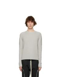 Rick Owens Grey Fisherman Biker Sweater