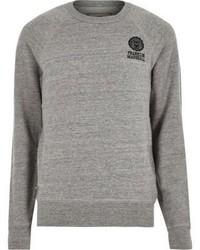 River Island Grey Franklin Marshall Branded Sweater