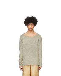 424 Grey Raw Cut Sweater