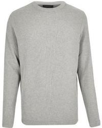 River Island Grey Textured Sweater