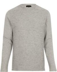 River Island Grey Textured Waffle Sweater