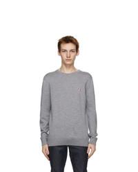 MAISON KITSUNÉ Grey Tricolor Fox Sweater