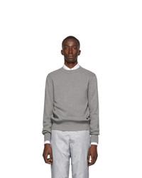 Thom Browne Grey Variegated Rib Airmail Sweater