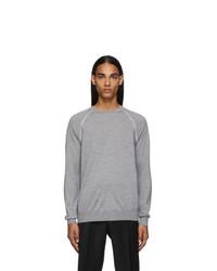 Ermenegildo Zegna Grey Wool Raglan Sweater