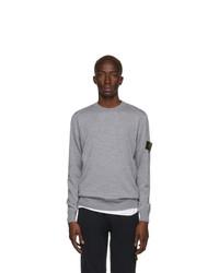Stone Island Grey Wool Sweater