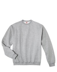 Hanes Premium Fleece Crew Neck Sweatshirt Grey Heather Xxl