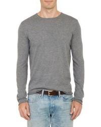 Barneys New York Layered Pullover Sweater Grey