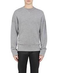 Balenciaga Logo Back Sweatshirt Grey Light Grey