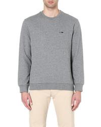 Armani Jeans Logo Embroidered Cotton Sweatshirt