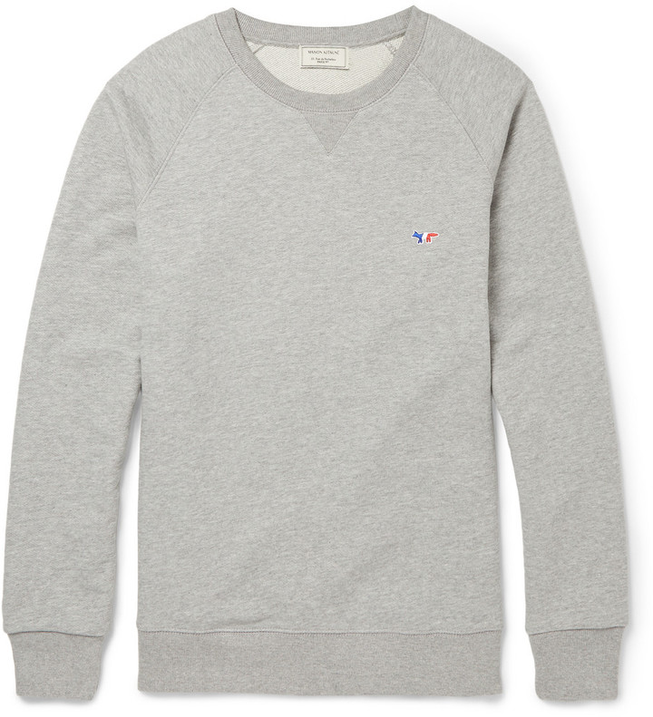 Kitsune Maison Kitsun Loopback Cotton Jersey Sweatshirt | Where to ...