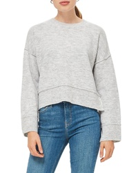 Topshop Mo Seam Detail Popper Sweater