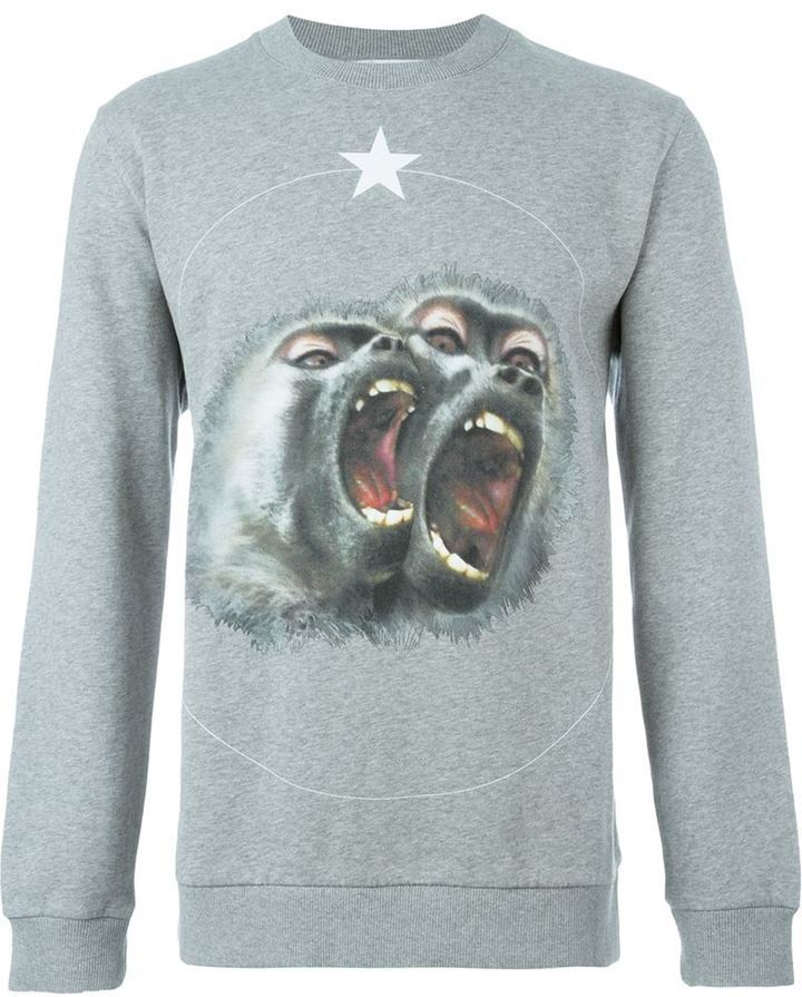 ... Crew-neck Sweaters Givenchy Monkey Brothers Sweatshirt
