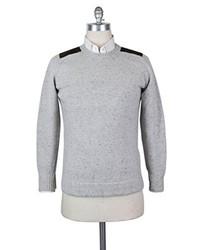 Kiton New Light Gray Cashmere Sweater Medium50