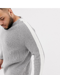 Tom Tailor Plus Knitted Jumper With In Grey