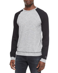 Mens Grey Crew Neck Sweaters By Rag And Bone Mens Fashion