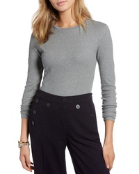 1901 Rib Crewneck Stretch Cotton Top