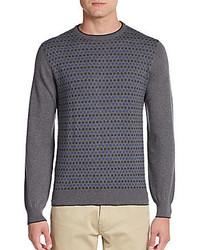 Saks Fifth Avenue Merino Wool Circle Dot Sweater