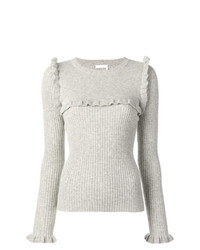 See by Chloe See By Chlo Ruffle Trim Knitted Sweater