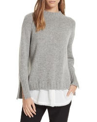 Brochu Walker Strand Layered Wool Cashmere Sweater