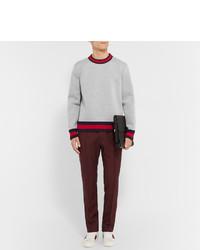 df20ce2e6e Gucci Stripe Trimmed Cotton Sweatshirt, $940 | MR PORTER | Lookastic.com