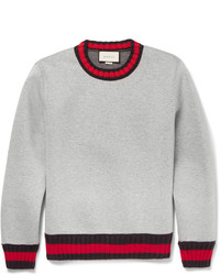 Gucci Stripe Trimmed Cotton Sweatshirt