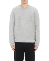 Alexander Wang T By Melange Neoprene Sweatshirt Grey