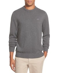 Whale classic fit cotton crewneck sweater medium 331035