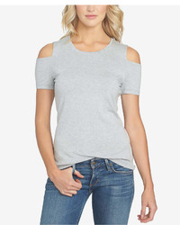1 STATE 1state Crew Neck Cold Shoulder T Shirt