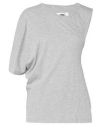 MM6 MAISON MARGIELA Asymmetric Twist Back Cotton Jersey T Shirt