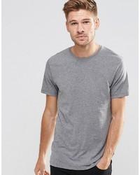 Esprit Basic Crew Neck T Shirt In Medium Gray
