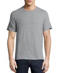 Valentino Basic Short Sleeve T Shirt With Back Stud Gray