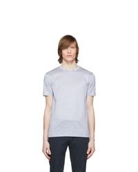 BOSS Blue And White Stripe T Shirt