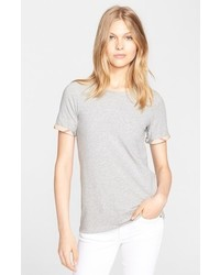 Burberry Check Trim Tee