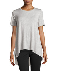 philosophy Chiffon Back Short Sleeve Tee Heather Light Gray