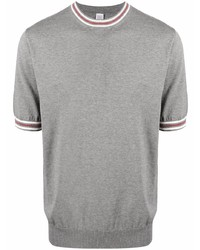 Eleventy Contrast Collar Cotton T Shirt