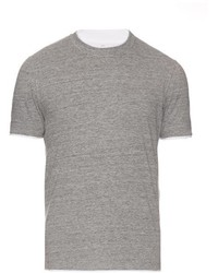 Brunello Cucinelli Cotton Jersey Double Layer T Shirt