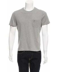Louis Vuitton Crew Neck Logo Embroidered T Shirt