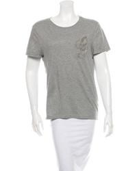 Gucci Embellished Round Neck T Shirt