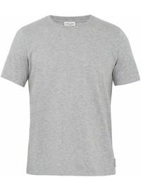 Saint Laurent Embroidered Crest Crew Neck T Shirt