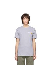 A.P.C. Grey Carhartt Wip Edition Fire T Shirt