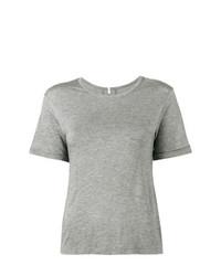 Lot78 Grey Cashmere Blend Side Split T Shirt