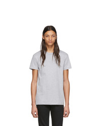 Naked and Famous Denim Grey Circular Knit T Shirt