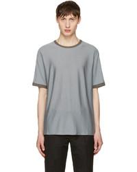 Jil Sander Grey Contrast Collar T Shirt